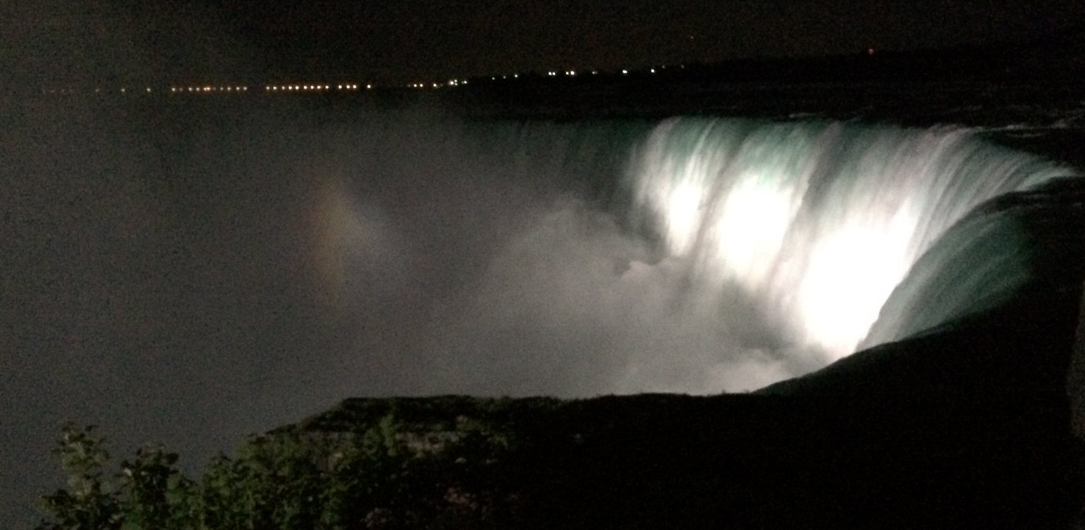 Niagara Falls at Night (Not the Best Shot - We Only Had Our Phones)