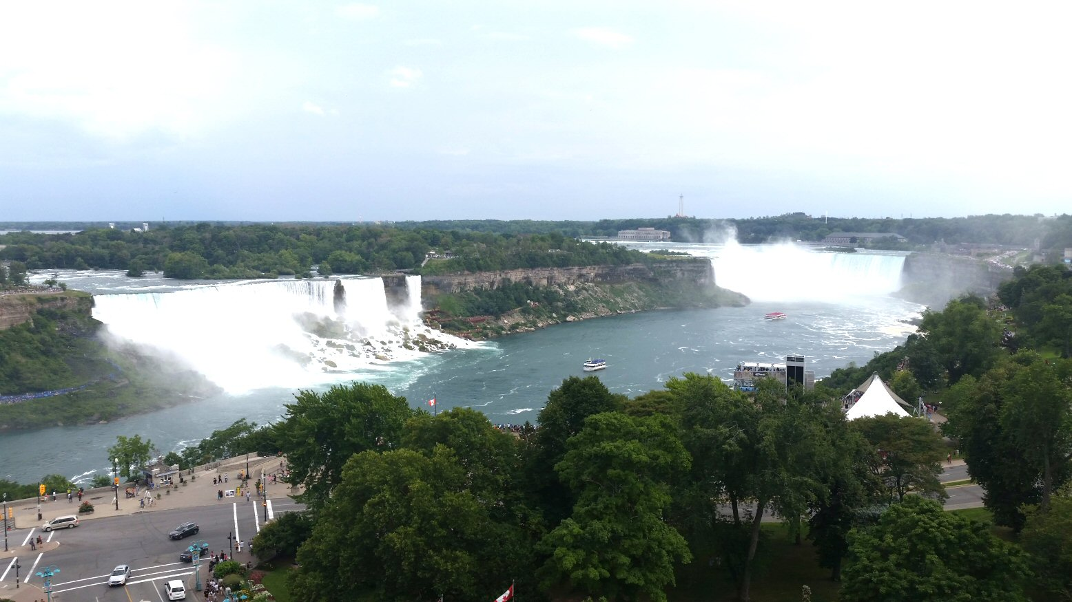 Niagara Falls viewed from the Fallsview Restaurant at the Sheraton Hotel