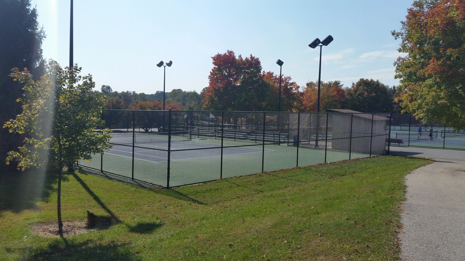 The Tennis Courts at the West Entrance
