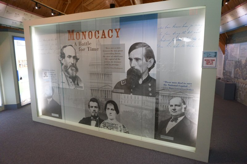 Main Wall in the Visitor Center at Monocacy Battlefield