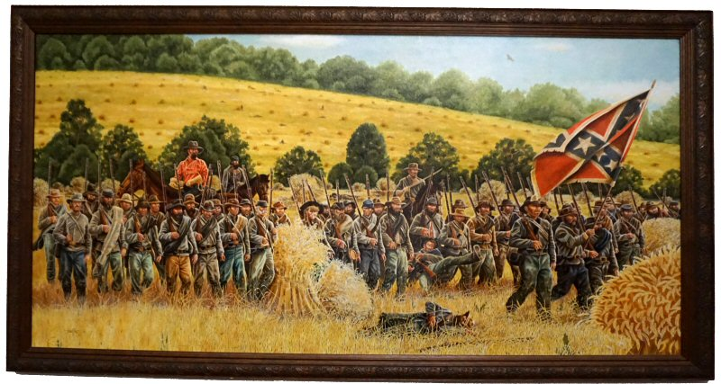 Through the Wheatfields Painting of Monocacy Battlefield